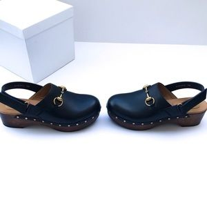 732874592b8 Gucci Shoes - Authentic Gucci Anita Black Leather Horsebit Clogs